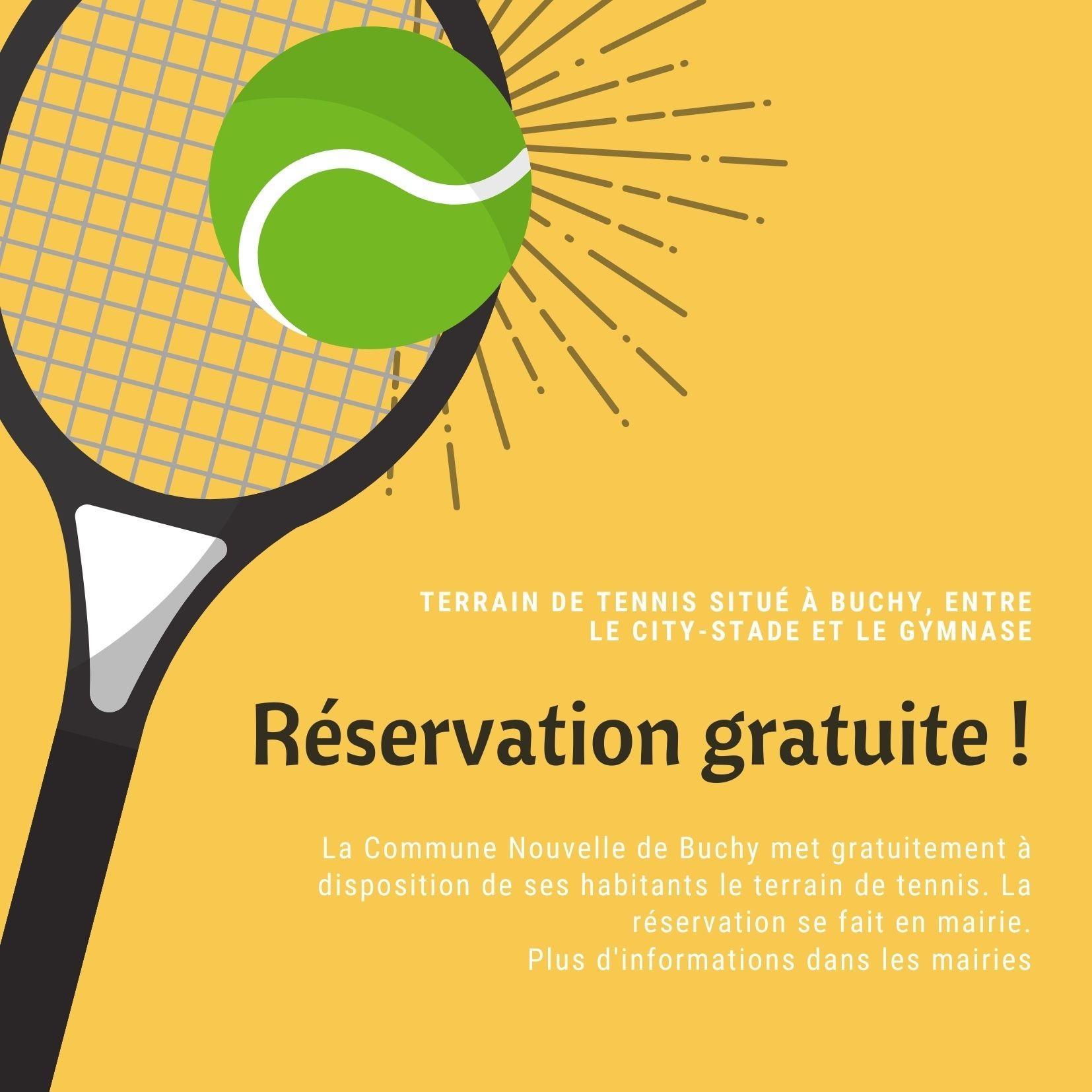 Reservation terrain de tennis